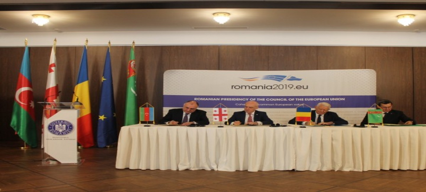 """THE DELEGATION OF TURKMENISTAN PARTICIPATED TO THE FOUR-SIDED MEETING ON THE PROJECT OF CREATING INTERNATIONAL TRANSPORT CORRIDOR """"CASPIAN SEA-BLACK SEA"""""""