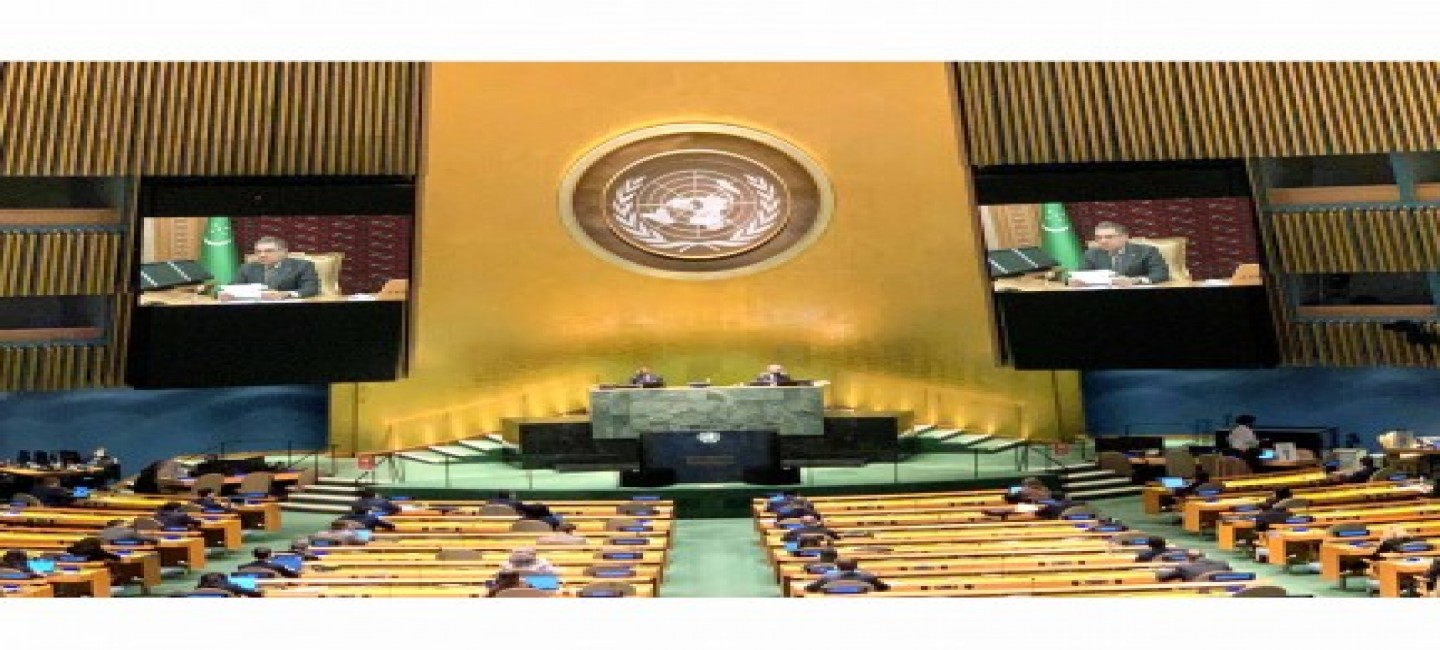 THE PRESIDENT OF TURKMENISTAN CALLED FOR THE COMPREHENSIVE STRENGTHENING OF INTERNATIONAL COOPERATION IN THE FIELD OF HEALTH DURING A SPEECH AT THE 75TH SESSION OF THE UN GENERAL ASSEMBLY