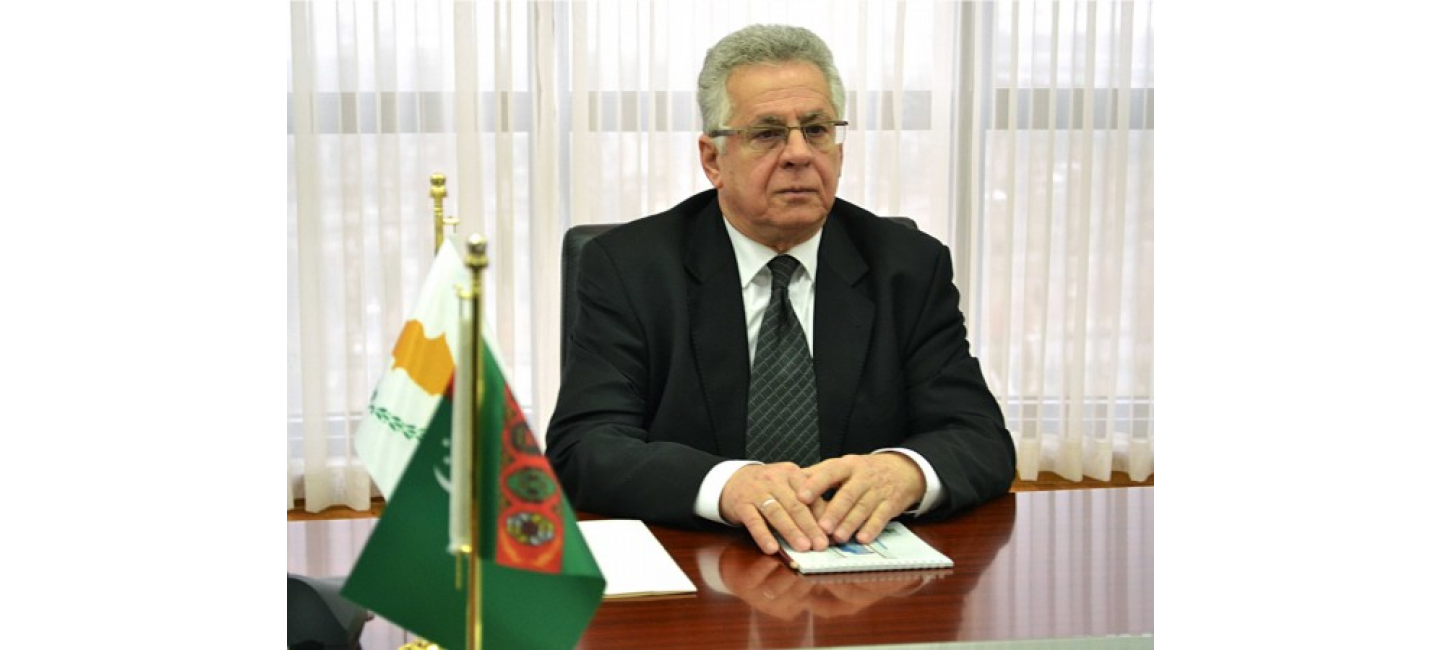 Ambassador of the Republic of Cyprus in Turkmenistan presented the copies of the credentials