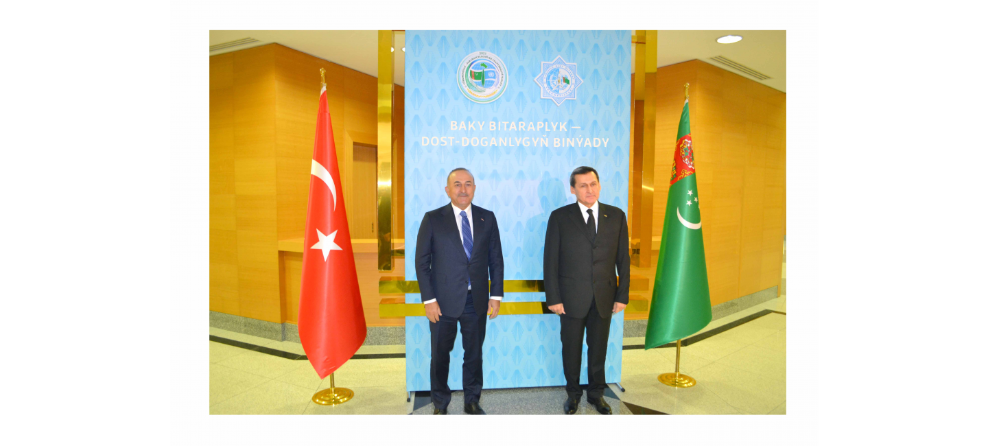 THE VISIT OF THE MINISTER OF FOREIGN AFFAIRS OF THE REPUBLIC OF TURKEY TO TURKMENISTAN