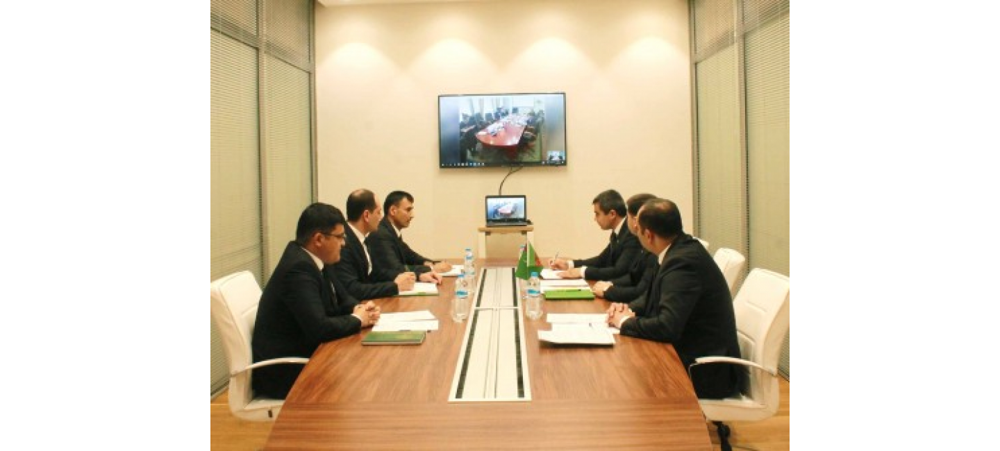 A video conference meeting between the government representatives of Turkmenistan and the Republic of Tatarstan held in the Turkmenbashy International Seaport
